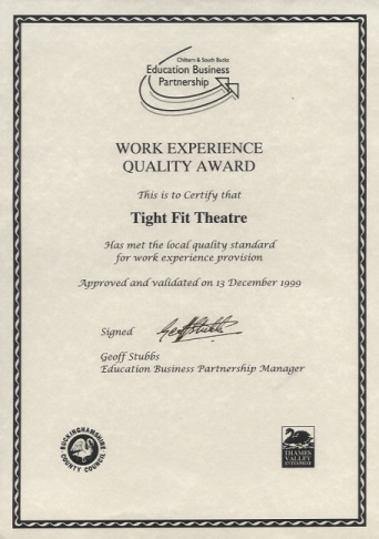 TFT's Work Experience Quality Award